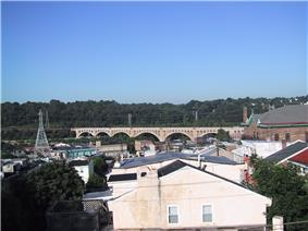 Manayunk skyline in the Roxborough-Manayunk district in Northwest Philadelphia