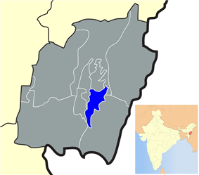 Location of Thoubal district in Manipur