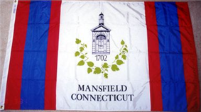 Flag of Mansfield, Connecticut