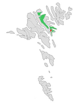 Location of Runavíkar kommuna in the Faroe Islands