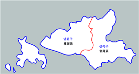 Map of Ansan-si district