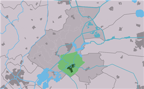Highlighted position of Nes in a municipal map of Friesland