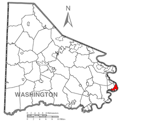 Location of Allenport in Washington County