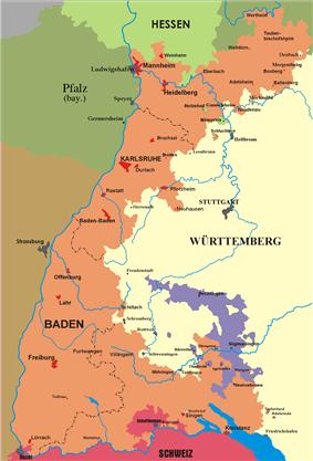 Territory of Baden 1806-1945.