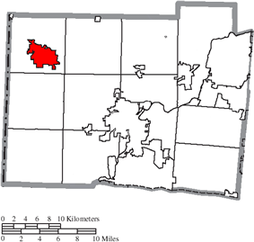 Location of Oxford in Butler County