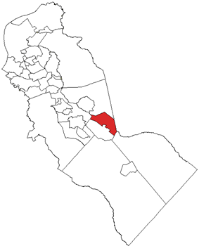 Berlin Township highlighted in Camden County. Inset: Location of Camden County in the State of New Jersey.