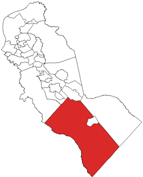 Winslow highlighted in Camden County. Inset: Location of Camden County highlighted in the State of New Jersey.