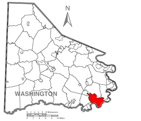 Location of Centerville in Washington County