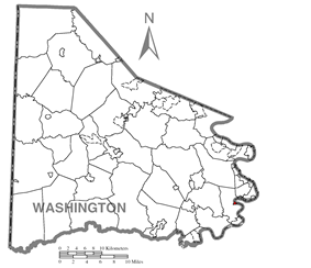 Location of Coal Center in Washington County