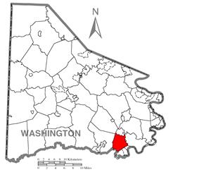 Location of Deemston in Washington County
