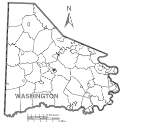 Location of East Washington in Washington County