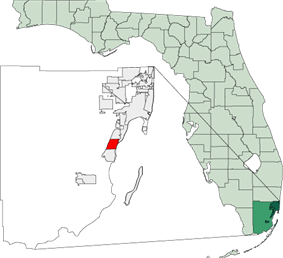 Location in Miami-Dade and the state of Florida.