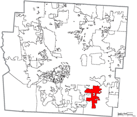 Location of Groveport in Franklin County