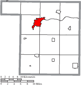 Location of Napoleon in Henry County
