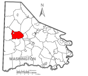 Location of Hopewell Township in Washington County
