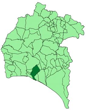 Location of Huelva