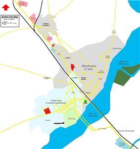 Map of Jhelum City