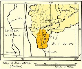 Location of Karenni States