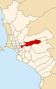 Location of Ate in Lima