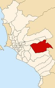 Location of Cieneguilla in the Lima province