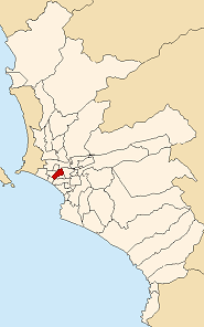 Location of Jesús María in the Lima province
