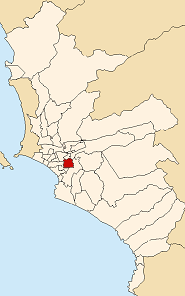 Location of San Borja in the Lima province