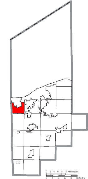 Location of Brownhelm Township in Lorain County