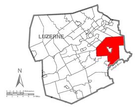 Luzerne County, Pennsylvania Highlighting Bear Creek Township