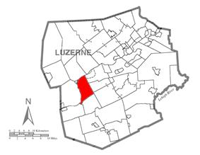 Map of Luzerne County, Pennsylvania Highlighting Conyngham Township