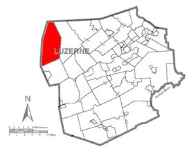 Map of Luzerne County, Pennsylvania Highlighting Fairmount Township