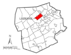 Map of Luzerne County, Pennsylvania Highlighting Jackson Township