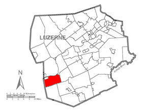 Map of Luzerne County, Pennsylvania Highlighting Nescopeck Township