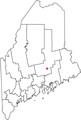 Location of Old Town, Maine