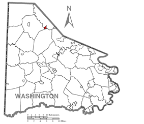 Location of Midway in Washington County