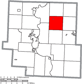 Location of Salem Township in Muskingum County