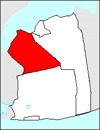 Location of the town of North Hempstead inside Nassau County: On the east is Queens, the south the town of Hempstead and the west the town of Oyster Bay