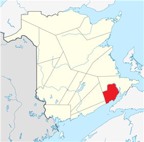 Location within New Brunswick