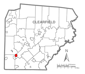 Location of Newburg in Clearfield County