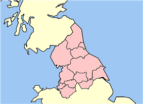 Counties of northern England shown within Great Britain, as defined by HM Revenue and Customs. Retrieved on 14 February 2013.