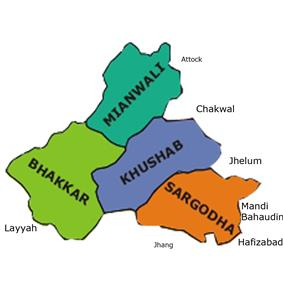 Location of Sargodha Division