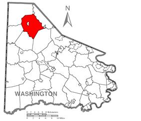 Location of Smith Township in Washington County