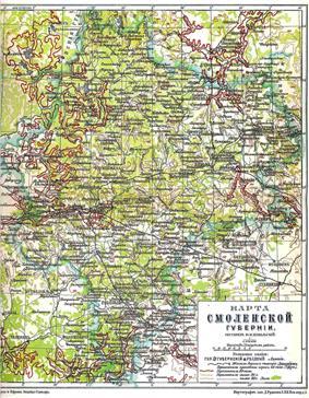 Location of Smolensk