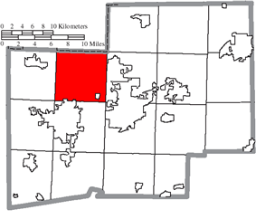 Location of Jackson Township in Stark County
