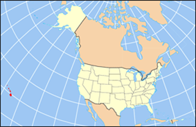 Map of the United States highlighting Hawaii