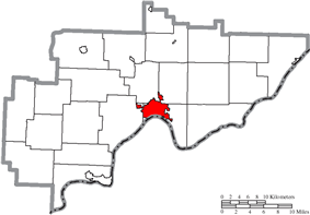 Location of Marietta in Washington County