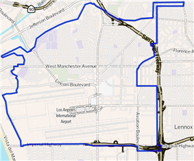 Westchester as outlined by the Los Angeles Times