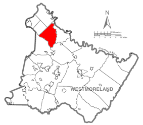 Location within Westmoreland County