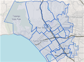 The Westside.Map by the Los Angeles Times