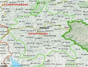 Map of Xiangkhouang Province