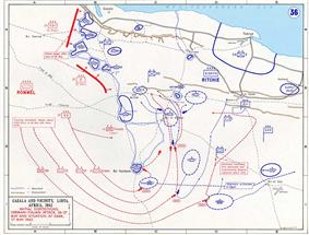Map of Battle of Gazala